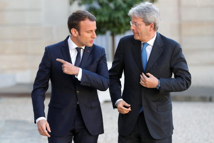 France's Macron hosts Italy's Gentiloni ahead of G7 meeting