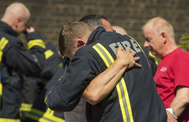 After London Fire, Adele Brings Cake and Hugs to Grenfell Tower Firefighters