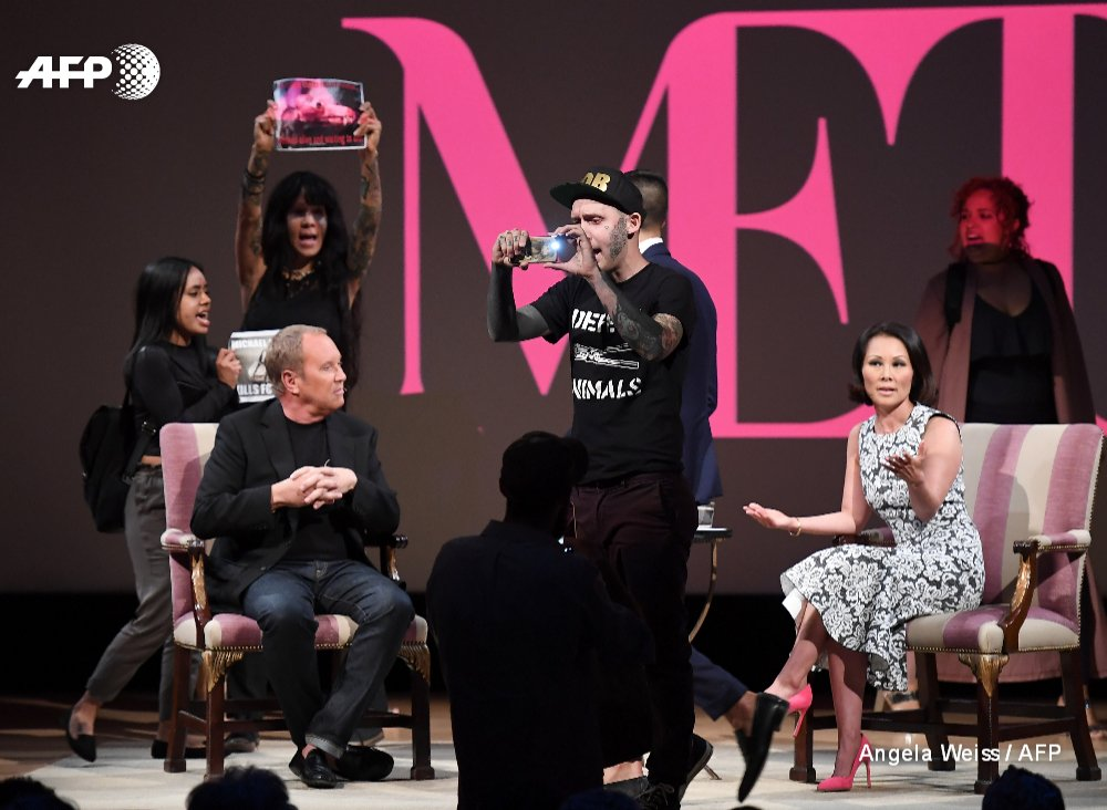 Anti-fur protesters disrupt US fashion mogul Michael Kors event in New York