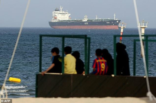 Kuwait says oil spill strikes its waters in Persian Gulf