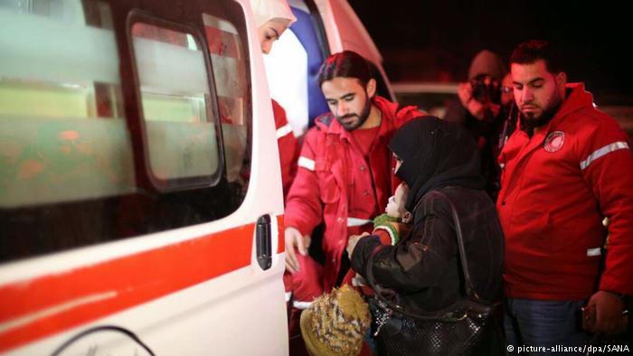 Emergency medical evacuations begin in Syria's Eastern Ghouta