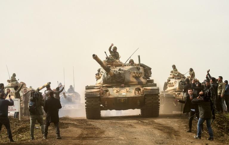 Pro-Syrian government militia move into Kurdish-controlled Afrin despite Turkish warnings