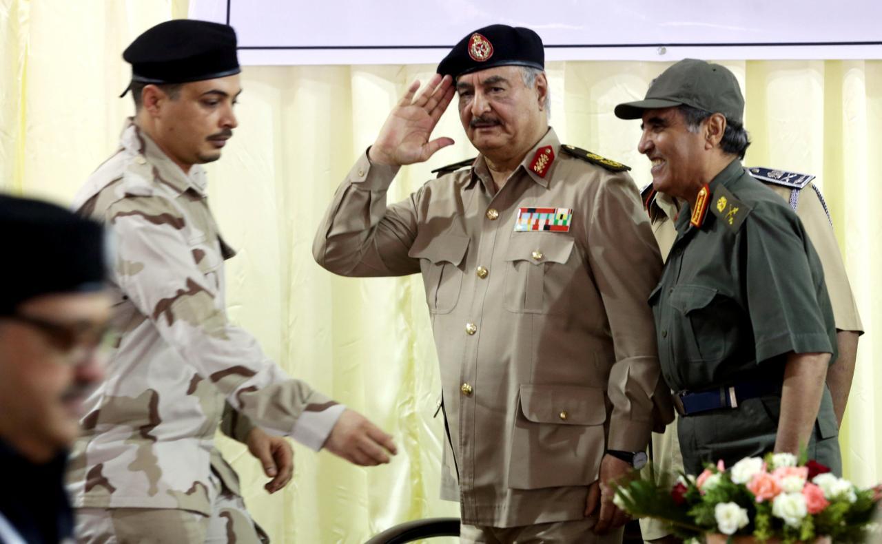 Eastern Libyan commander Haftar returning to Benghazi Thurs after Paris treatment
