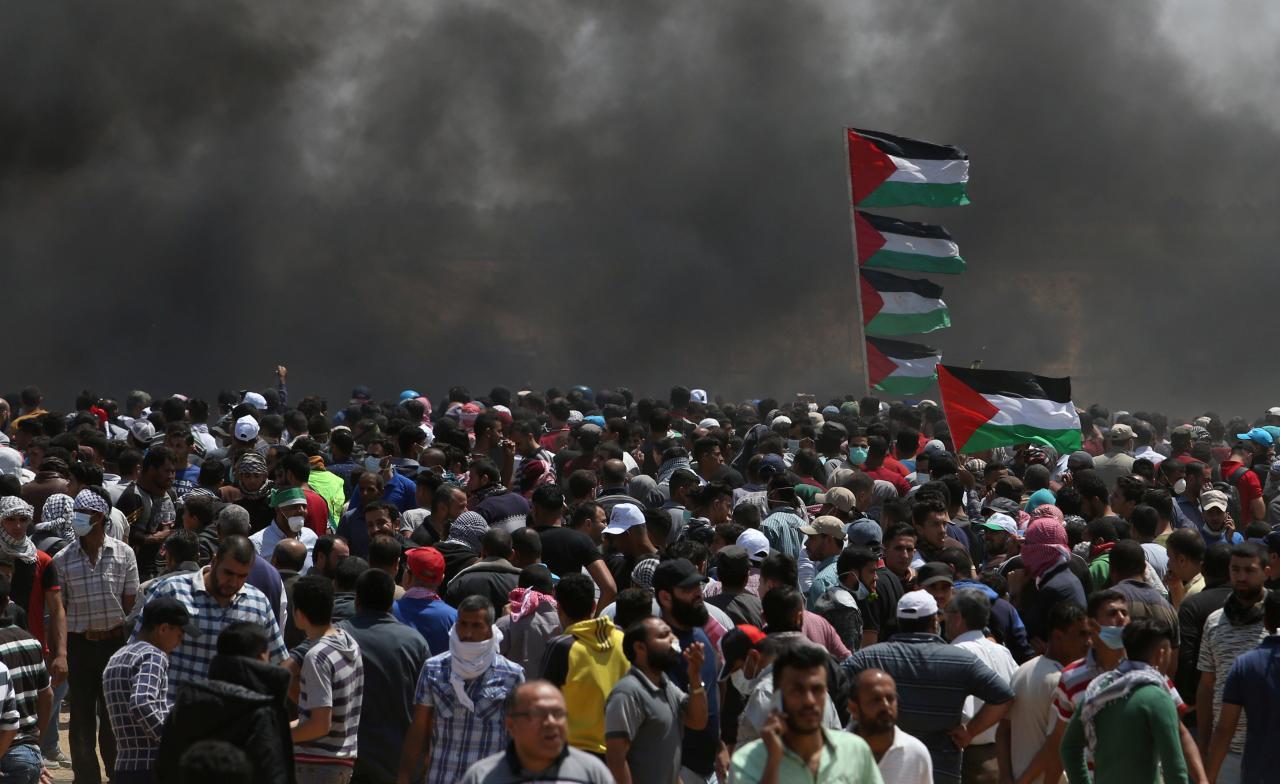 Image result for gaza protests