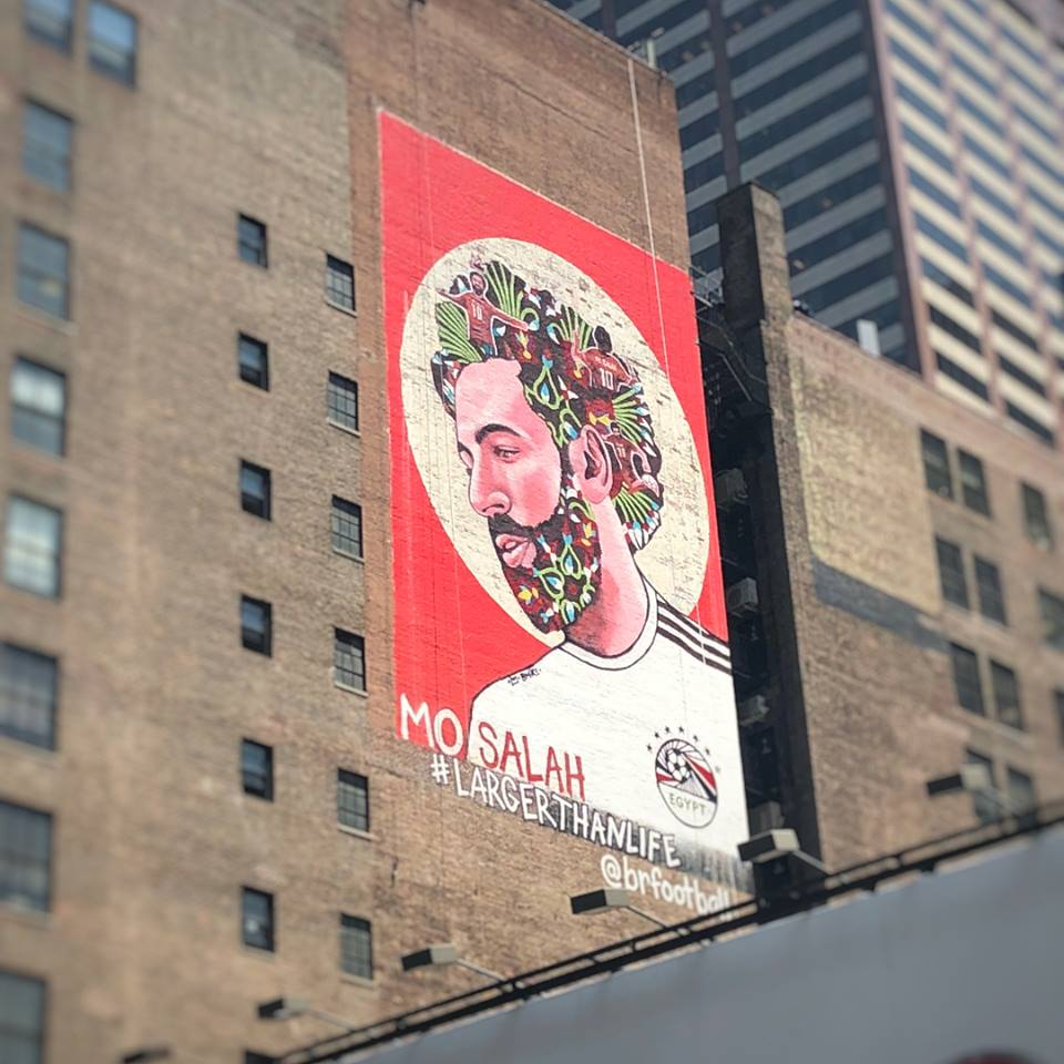 Image result for mohamed salah mural ny