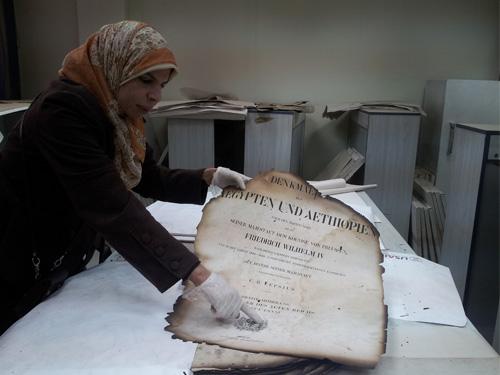 Book restoration at Dar al-Kotob: