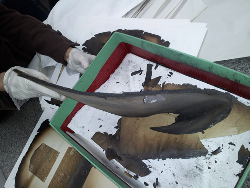 Book restoration at Dar al-Kotob: Burnt books
