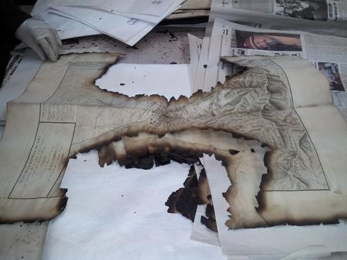 Book restoration at Dar al-Kotob: Burnt books from the Scientific Institute