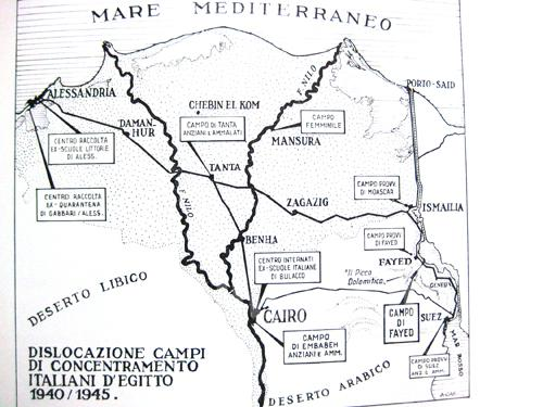 Map Of Italian Concentration Camps In Egypt
