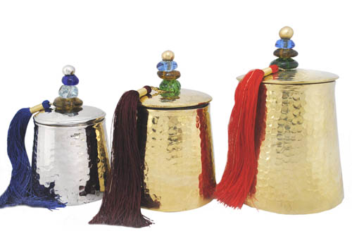 Color and brass salameka offers high end home accessories