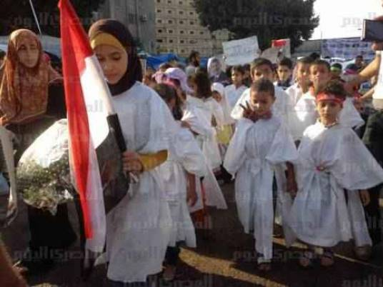 Children in coffins against 'coup'