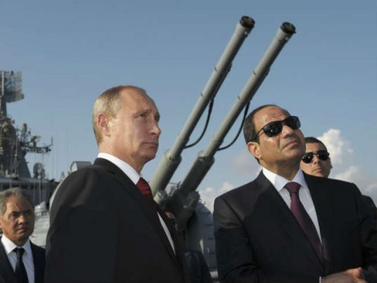 Russia's Putin lands in Egypt in sign of growing ties