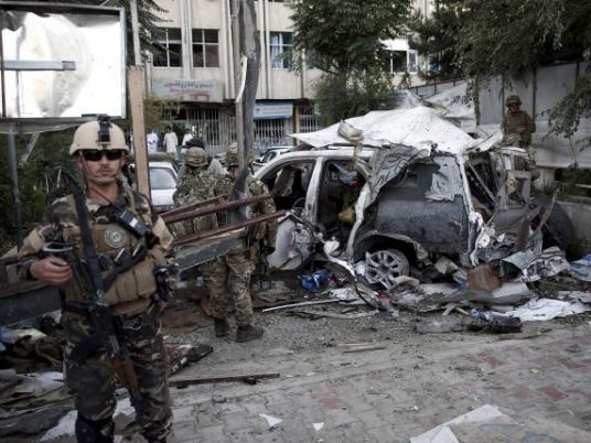 Car bomb in Afghanistan targets security forces waiting for pay