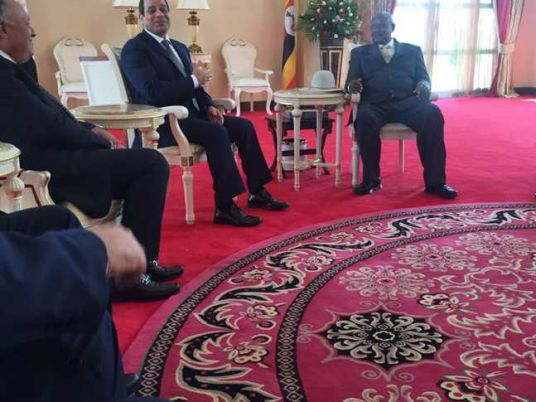 Sisi arrives in Entebbe for Nile Basin countries summit