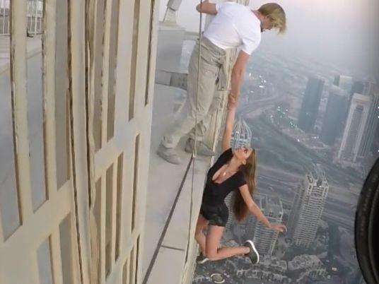 Russian Model Off Building Dubai